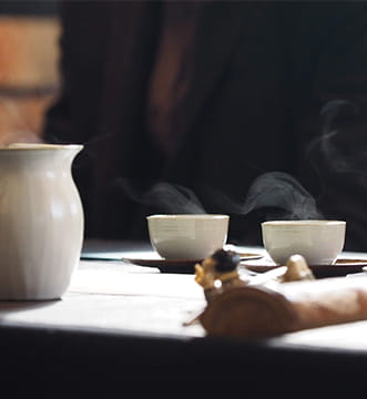 お客様に提供された中国茶