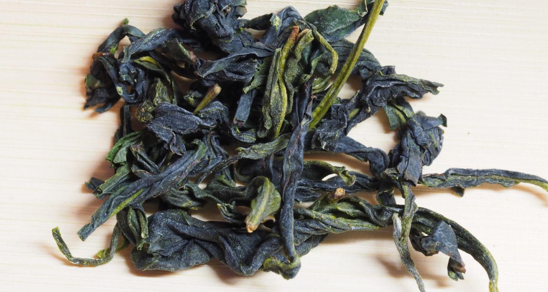 中国茶、文山包種茶の茶葉