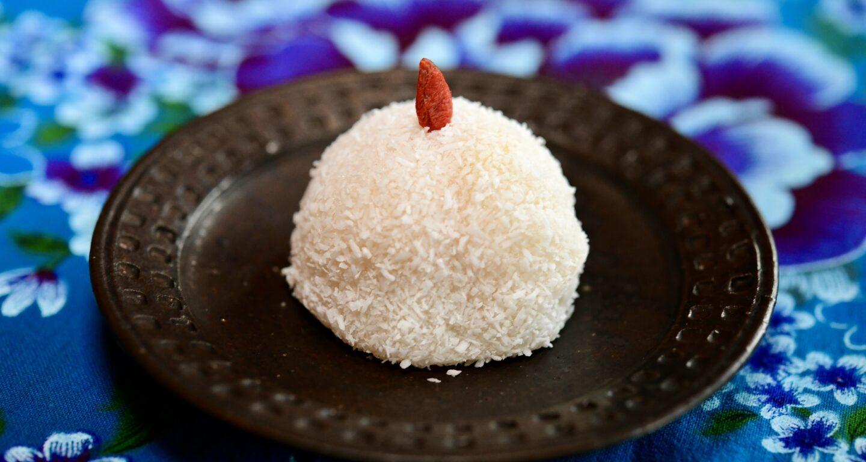 ココナッツ緑豆大福